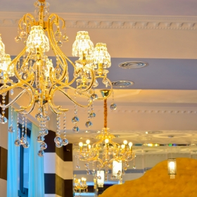 Tiffany Bar chandeliers