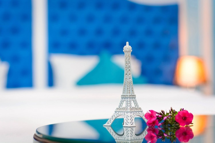 Small Eiffel Tower in luxury room