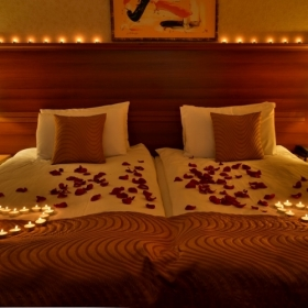 Romantic atmosphere in the room